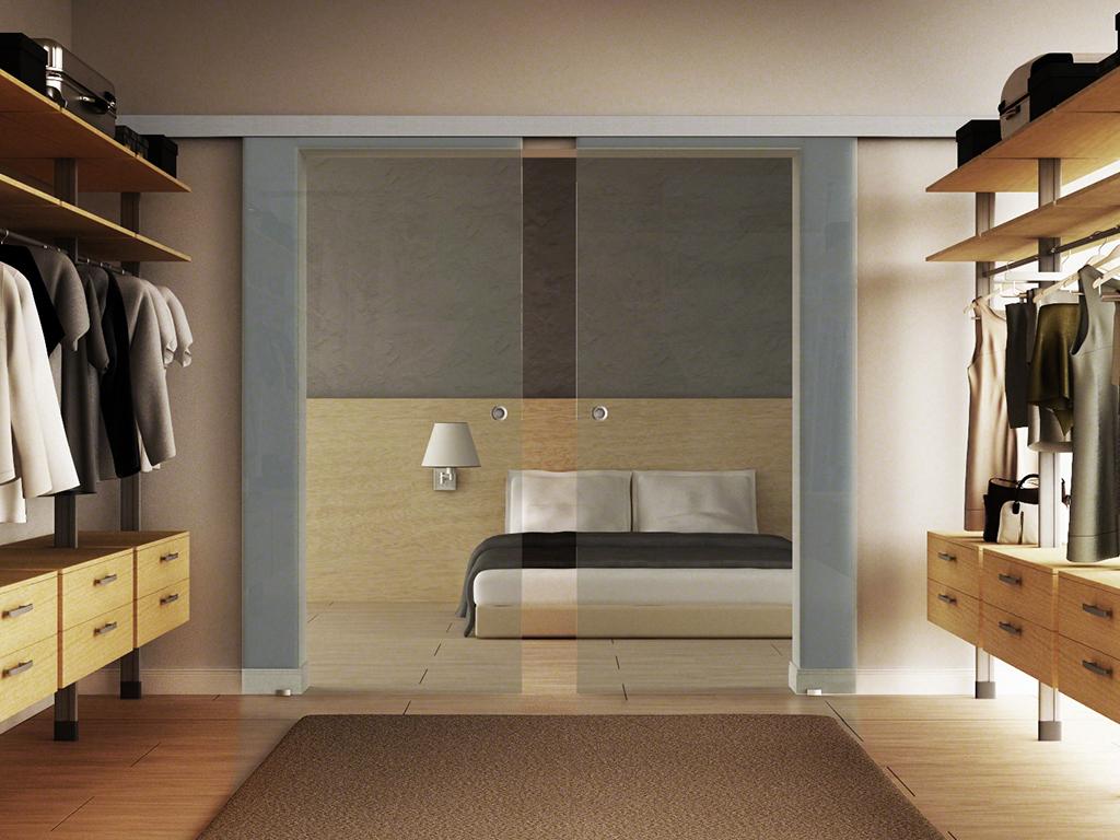 glasschiebet r 2 fl gelig mit alu schiene von levidor. Black Bedroom Furniture Sets. Home Design Ideas