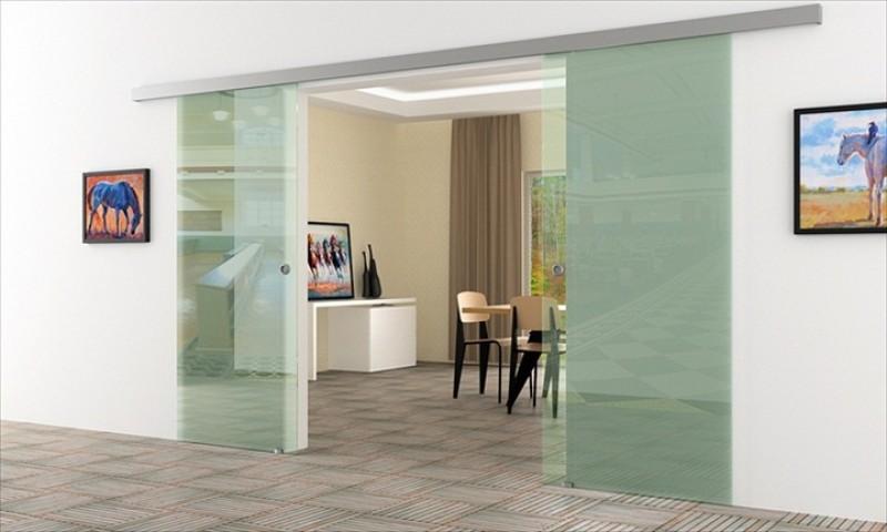 2 fl gelige glasschiebet r anlage glas 2stk 775 x 2050. Black Bedroom Furniture Sets. Home Design Ideas