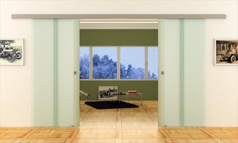 dorma agile 50 doppel glas schiebet r gl ser 775 x 2050 x 8. Black Bedroom Furniture Sets. Home Design Ideas