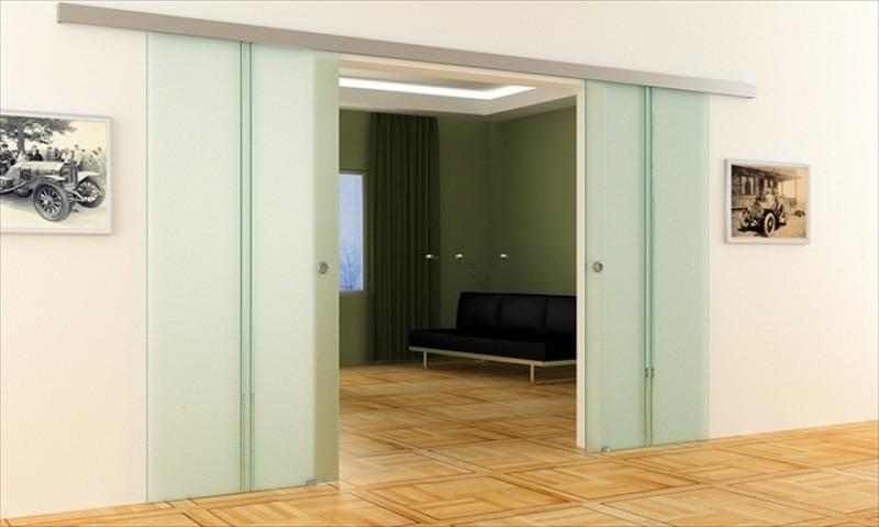 Doppelschiebetür Glas dorma agile 50 doppel-glas-schiebetür | gläser: 900 x 2050 x 8