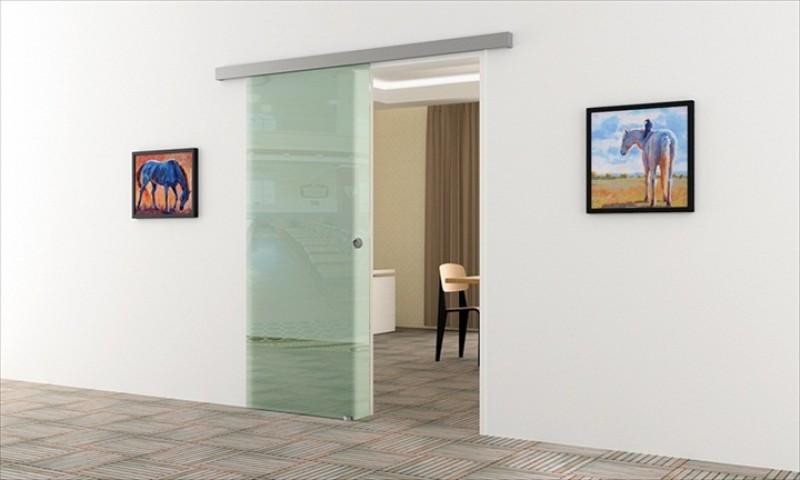 glasschiebet r 1025 x 2050 mm klarglas muschelgriff alu. Black Bedroom Furniture Sets. Home Design Ideas