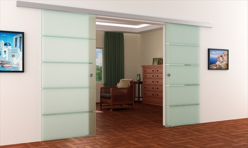 glasschiebet r anlage gesamtbreite 1800 mm gesamth he. Black Bedroom Furniture Sets. Home Design Ideas