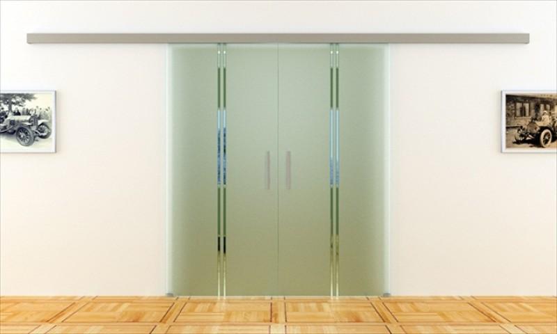glasschiebet r mit 2 scheiben 775 x 2050 mm pro scheibe. Black Bedroom Furniture Sets. Home Design Ideas