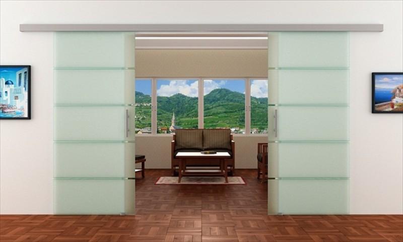 Doppelschiebetür Glas schiebetür aus glas für den wohnbereich | glas: 2x 1025 x 2050