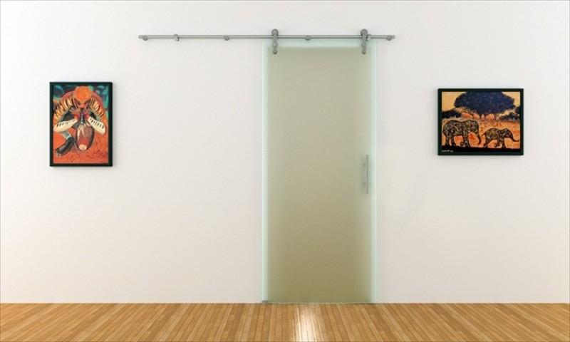 schiebet r aus blickdichtem glas in 90 cm x 205 cm mit offenen. Black Bedroom Furniture Sets. Home Design Ideas