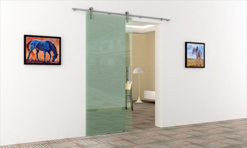 schiebet r f r innenbereich edelstahl schienen system. Black Bedroom Furniture Sets. Home Design Ideas