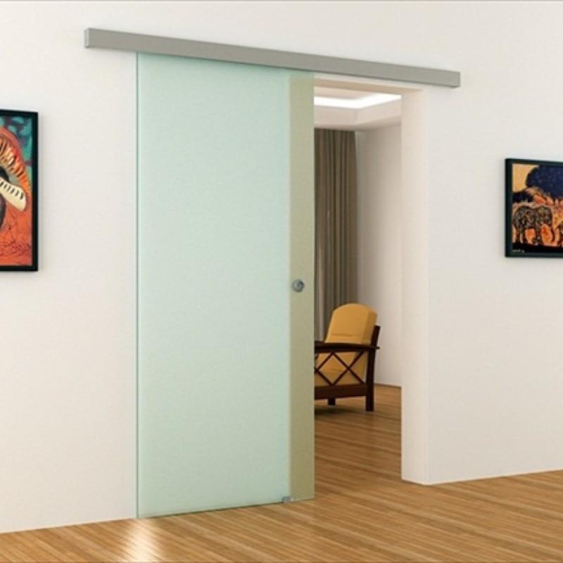 Schiebetür glas satiniert  Voll-Satinierte Glas-Schiebetür für Innenbereich. Komplett in ...