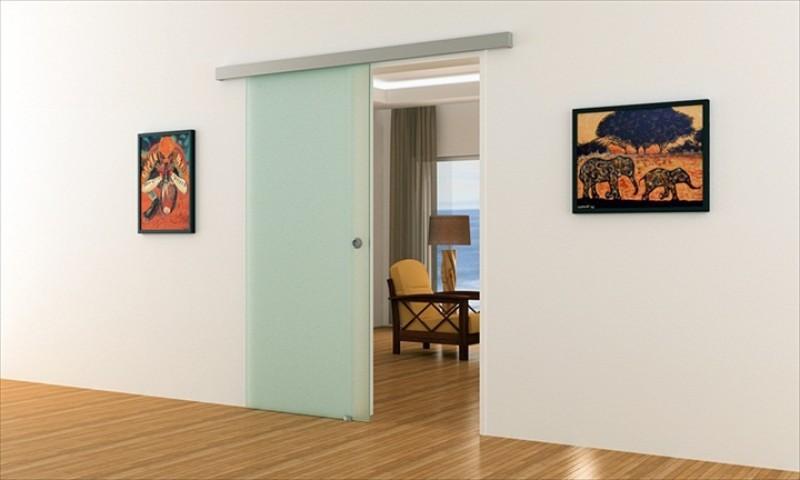 voll satinierte glas schiebet r f r innenbereich komplett in. Black Bedroom Furniture Sets. Home Design Ideas